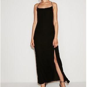 NWT • Express • Black Scoop Neck Maxi Dress